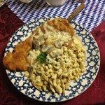 jaeger schnitzel. aka heaven on a plate