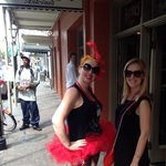 Tour guide in tutu - a New Orleans moment.