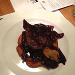 Beef fillet with red wine shallots - so good