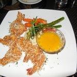 Delicious coconut shrimp