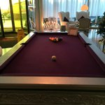 Pool table available to hire in the hotel lobby