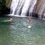 A swim in Reach falls