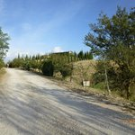 the driveway/approach to the Agriturismo