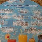 Pool drink menu