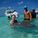 My daughter Britttany and a stingray.