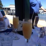Bellinis to start a wonderful meal