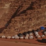 Panoramic view over Rahayeb Camp