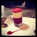 Verrine framboise (dessert du jour)