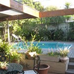 Auriol's beautiful garden with pool