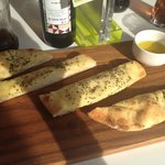 Rosemary and sea salt bread and olive oil starter.. Amazing!