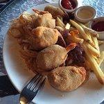 Amazing fried stuffed shrimp