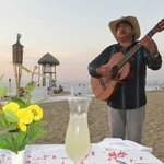 Dinner on the Beach with Musician