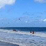 Kites fill the sky