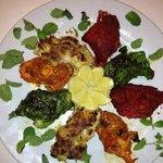 Hara Bhara Chicken (Malai, Tikka, Mint and Achari)