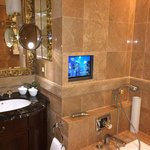 Luxury bathroom complete with Tv over bath