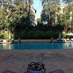 The pool outside the breakfast veranda