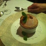 Rhubarb souffle, Richard ate 2 of these!