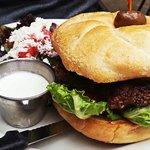 Pablos Stuffed burger