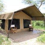 Unser Zelt im Ubuntu Camp