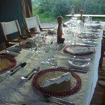 Gedeckter Tisch für´s Dinner