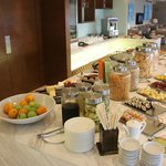 Breakfast buffet in club lounge