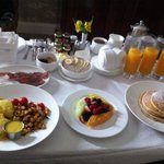 Breakfast room service beyond met our expectations.