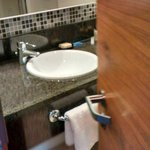 Clean bathroom with good toiletries