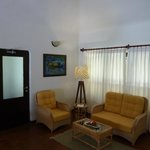 deluxe pool villa living room