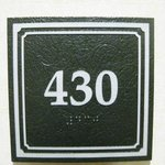 Room number 430 non-smoking