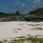 Ruins just down the beach