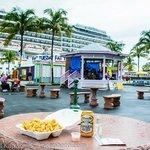 Plaza area by cruise ship dock & straw market
