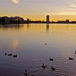 Sunset over Lake Merritt