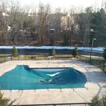 Pool, but in March....