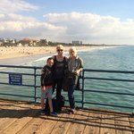 Standing on the Santa Monica Pier (which is getting renovated by the way)