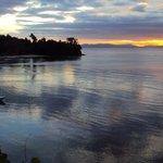 Sunset view of Somosomo Straights from Tromonto restaraunt