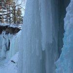 Frozen falls in march