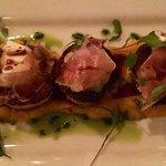 Bay Scallops with Brie & Prosciutto. Delicious!