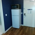 I was surprised that is had a full size fridge AND Microvvave..