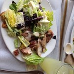 The salt and pepper chicken with Caesar salad and a mint lemonade - for $13! Bargain for the qua