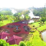 Backyard View of Inn and Hawaii's only Lava Heated Steam Saunas.
