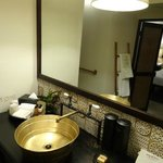 Nicely appointed bathroom - lots of character
