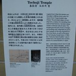 Tourist explanation outside the temple door.