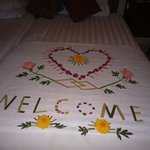 A lovely welcome from the staff