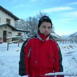 Gabriele sulla neve del Peschio Pizzuto