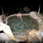 bain chauffé au feu de bois