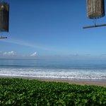 Beach at breakfast