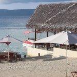 View of the beachfront restaurant
