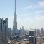 Vue de la chambre sur le Burj Khalifa