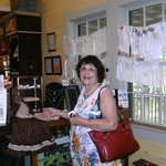 Wife in the gift shop of the Laura Plantation