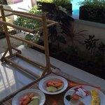 Breakfast awaiting at your front door